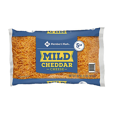 Member's Mark Standard Shredded Mild Yellow Cheddar Cheese (5 lbs.)