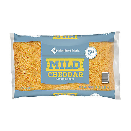 Member's Mark Fancy Shredded Mild Yellow Cheddar Cheese (5 lbs.)