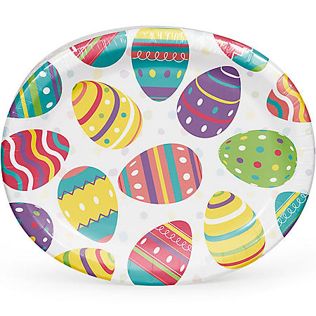 Member's Mark Easter Doodles Oval Paper Plates (55 ct.)