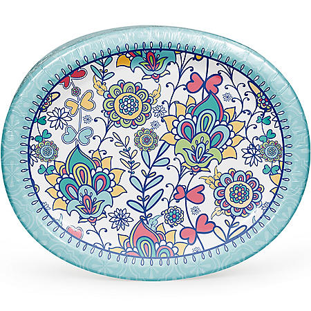 Member's Mark Summer Wonderland Oval Paper Plates (55 ct.)