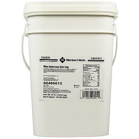 Member's Mark White Buttercreme Icing (32 lbs.)