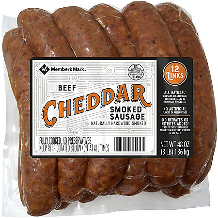Member's Mark Smoked Cheddar Beef Sausage Links (12 links)