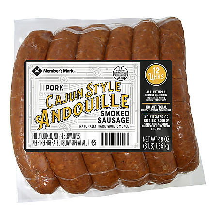 Member's Mark Smoked Cajun-Style Andouille Pork Sausage (12 ct.)