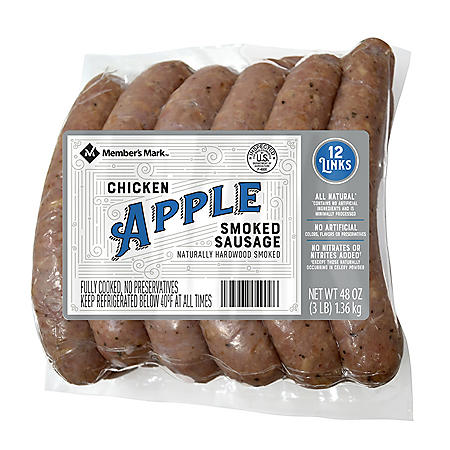 Member's Mark Smoked Apple Chicken Sausage (12 ct.)