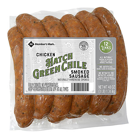 Member's Mark Hatch Green Chile Smoked Chicken Sausage (12 ct.)