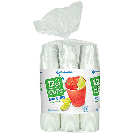 Member's Mark Translucent Plastic Cups (12 oz., 300 ct.)