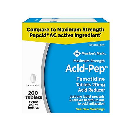 Member's Mark 20mg Acid Pep, Famotidine (200 ct.)