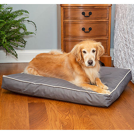"Member's Mark Indoor/Outdoor 36"" x 27"" Pet Bed, Gray & Ivory"