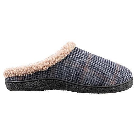 Isotoner Men's Woven Brett Hoodback Slippers