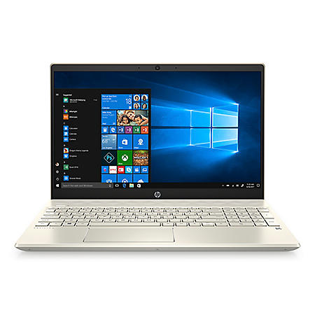 """HP - Pavilion - 15.6"""" Full HD Touchscreen Laptop - 10th Gen Intel Core i7 Processor - 8GB RAM + 32GB Intel Optane - 512GB Solid State Drive - Backlit Keyboard with Numeric Keypad - 2 Year Warranty Care Pack - Windows 10 Home (Warm Gold)"""