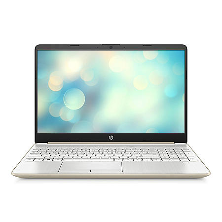 """HP - 15.6"""" HD Laptop - 10th Gen Intel Core i3 - 4GB Memory - 256 GB Solid State Drive - Backlit Keyboard with Numeric Keypad - 2 Year Warranty Care Pack - Windows 10 Home - Gold"""