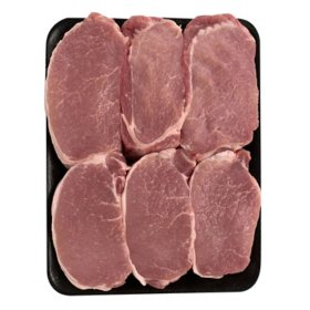 Member's Mark Fresh All Natural Pork Loin Boneless Chops (priced per pound)