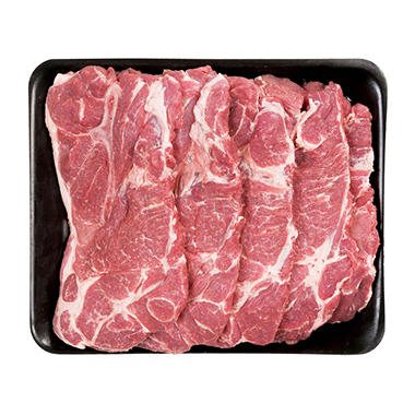 Member's Mark Pork Shoulder Blade Steaks Tray (priced per pound)
