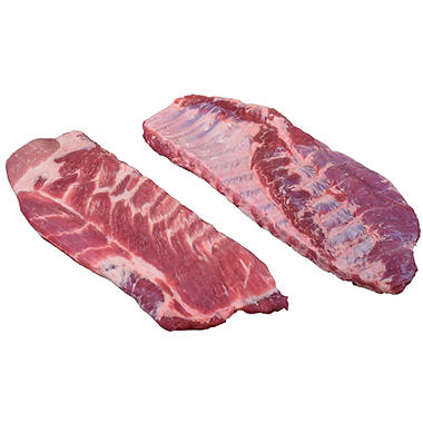 Fresh Pork Spare Ribs (2-3 per bag, priced per pound)