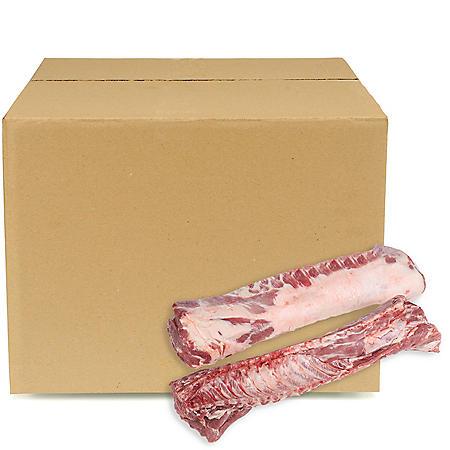 Bone-in Pork Loin, Bulk Wholesale Case (2 bags per box, priced per pound)