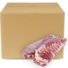 Case Sale: Pork Spareribs Case (3-4 bags per box, priced per pound)