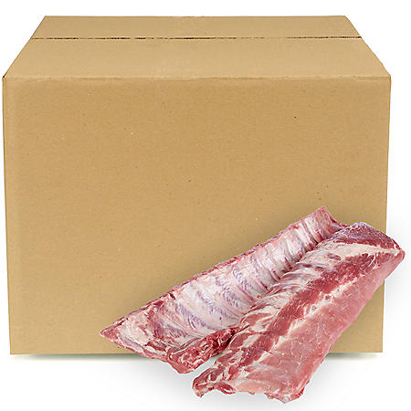 Pork Loin Back Ribs, Bulk Wholesale Case (priced per pound)