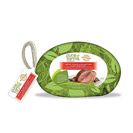 Pure Farms Antibiotic-Free Bone-In Spiral Ham (Priced per pound)