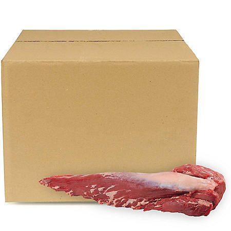 USDA Choice Angus Beef Whole Tenderloin, Bulk Wholesale Case (12 pieces per case, priced per pound)