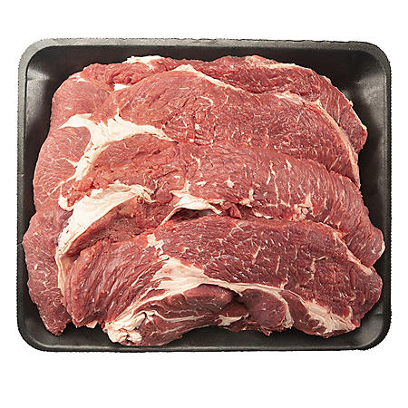 USDA Choice Angus Beef Chuck Steak, Thin Sliced (priced per pound)