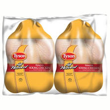 Tyson All Natural Premium Young Chicken, Twin Pack (8-12  Lbs. Weight Range)