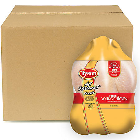 Case Sale: Tyson Twin Pack Whole Birds (12 ct., Priced Per Pound)