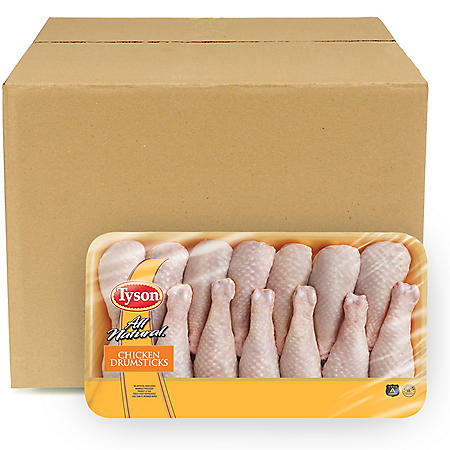 Tyson Chicken Drumsticks, Bulk Wholesale Case (14 ct./6 pkgs., priced per pound)