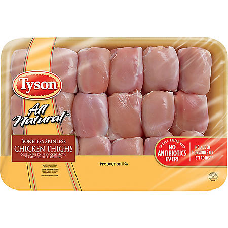 Tyson Boneless Skinless Chicken Thighs (priced per pound)