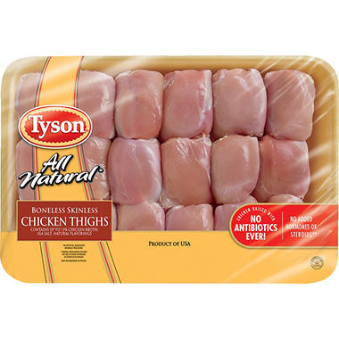 Tyson Boneless Skinless Thighs (4-9 lbs. Weight Range )