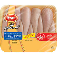 Tyson Individually Wrapped Boneless Chicken Breast (priced per pound)