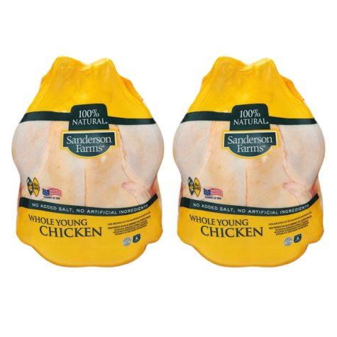 Sanderson Farms Whole Young Chickens, Twin Pack (priced per pound)