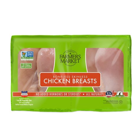 Forester Farmers Market Boneless Skinless Chicken Breasts, ABF (Priced Per Pound)