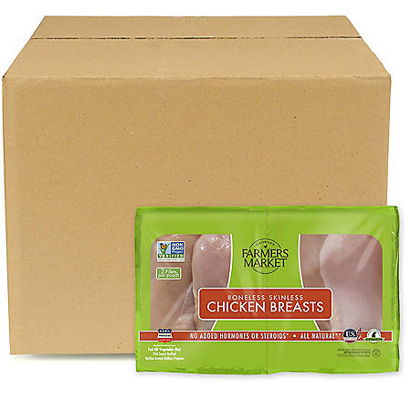 Forester Farmers Market Antibiotic-Free, Boneless, Skinless Chicken Breasts, Bulk Wholesale Case (priced per pound)