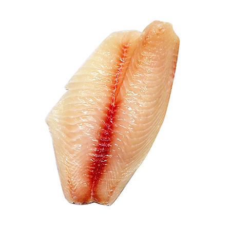 Fresh Tilapia Fillets, Bulk Wholesale Case (priced per pound)