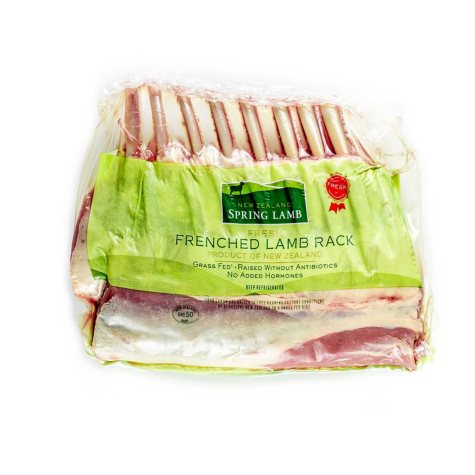Fresh New Zealand Lamb Frenched Lamb Rack (priced per pound)
