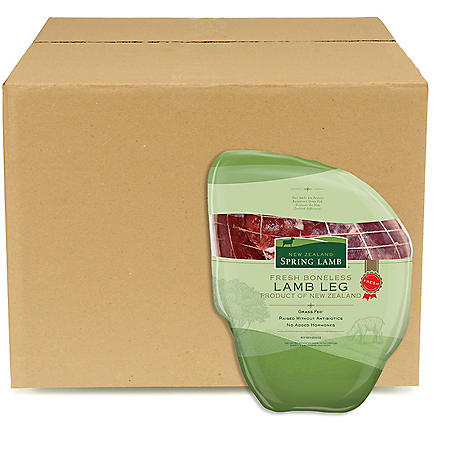 Fresh New Zealand Lamb Boneless Leg of Lamb, Bulk Wholesale Case  (7 legs per case, priced per pound)