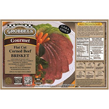 Grobbel's Gourmet Corned Beef Brisket, 3.5-5.5 lb. (Priced Per Pound)
