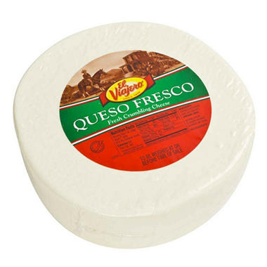 El Viajero Queso Fresco Wheel (priced per pound)