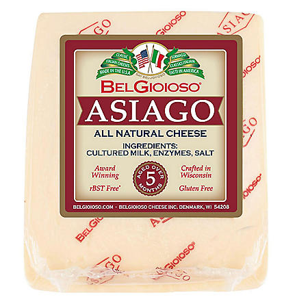 Belgioioso Asiago Wedge (Priced Per Pound)