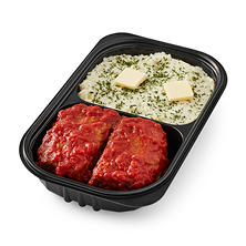 Homestyle Meatloaf with Whipped Potatoes (serves 2-4)