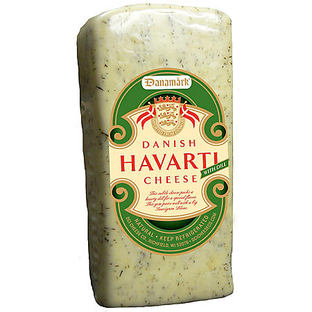 Danamark Havarti Cheese with Dill Cheese (Priced Per Pound)