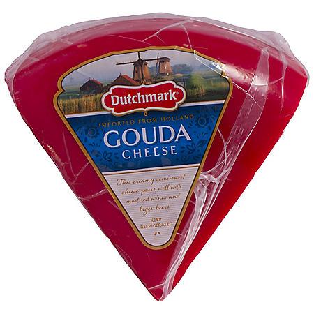 Dutchmark Red Wax Gouda Cheese (Priced Per Pound)