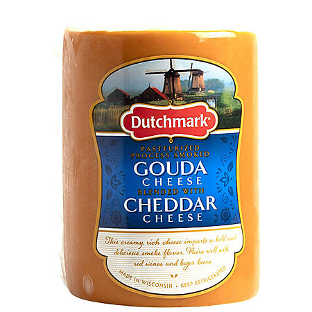 Dutchmark Smoked Gouda Cheese Blended With Cheddar (Priced Per Pound)