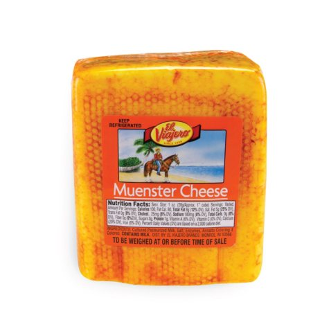El Viajero Muenster Cheese (Priced Per Pound)