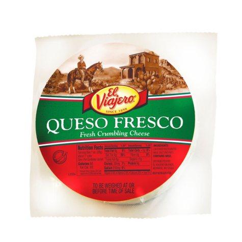 El Viajero Queso Fresco (priced per pound)