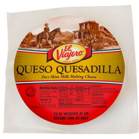 El Viajero Quesadilla Cheese (priced per pound)