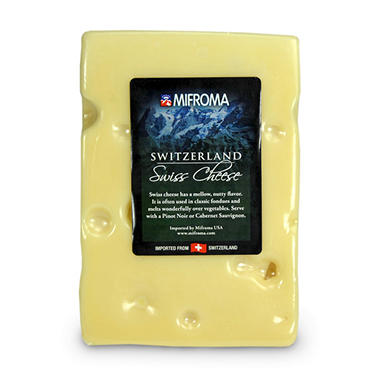Mifroma Switzerland Swiss Cheese (Priced Per Pound)