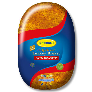 Butterball Fully Cooked Turkey Breast - Oven Roasted - 3 lbs.