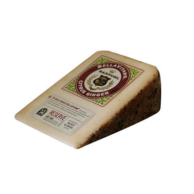 BellaVitano Citrus Ginger Cheddar Cheese Wedge (Priced Per Pound)