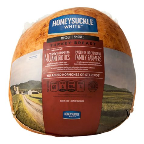 Honeysuckle White Mesquite Smoked Turkey Breast - Case Sale (4 ct., priced per pound)